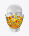 Rex Fabrics Fashion Mask Yellow Background Geometrical Pattern Cotton and Neoprene Reversible