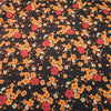Orange and Red with a White Background Floral China Silk Fabric