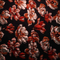 Black And Red Floral Textured Brocade Fabric - Rex Fabrics