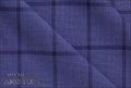 Ariston Contemporary Collection Blue Windowpane Suiting - Rex Fabrics