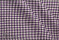 Ariston Leisure & Sport Collection Purple And Black Gingham Suiting - Rex Fabrics