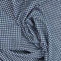Black and White Houndstooth Crepe Printed Polyester - Rex Fabrics