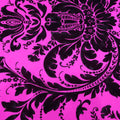 Black and Fuchsia Floral Brocade Fabric - Rex Fabrics