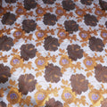 Multicolored Floral Silk Brocade - Rex Fabrics