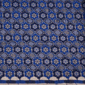 Navy and Blue Floral Guipure Lace - Rex Fabrics