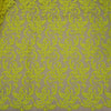 Yellow Arabesque Embroidered Tulle Fabric