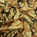 Yellow Background with Brown Rope Printed Fabric - Rex Fabrics