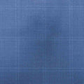 15 Milmil 15: Blue Windowpane Australian Wool Suiting - Rex Fabrics