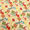 Nude Background with Multicolored Floral Printed Fabric - Rex Fabrics