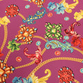 Pink Background with Multicolored Floral Printed Fabric - Rex Fabrics