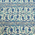 Ivory Background with Blue Abstract Printed Fabric