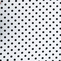 Navy Circles on White Printed Polyester Crepe - Rex Fabrics