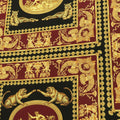 Black, Burgundy and Gold Printed Fabric - Rex Fabrics