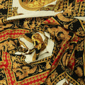 Black, Red and Gold Abstract Printed Fabric - Rex Fabrics