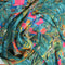 Green and Fuchsia Floral Polyester Print Fabric - Rex Fabrics