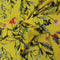Yellow Background with Gray Floral Printed Fabric - Rex Fabrics