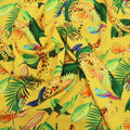 Yellow Background with Multicolored Floral Printed Fabric - Rex Fabrics