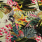 Multicolored Green Leaves and Floral Printed Fabric - Rex Fabrics