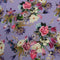 Purple Background with Multicolored Floral Printed Fabric - Rex Fabrics