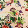 Peach Background with Multicolored Floral Printed Fabric - Rex Fabrics