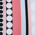 Pink Multicolored Striped with Circles Printed Polyester - Rex Fabrics