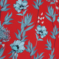 Formula Red Floral Printed Polyester - Rex Fabrics