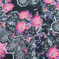 Black Background with Multicolor Print  Fabric - Rex Fabrics