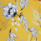 White Floral on Yellow Printed Polyester Crepe - Rex Fabrics