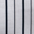 Navy Stripped on White Linen - Rex Fabrics