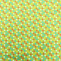 Multicolored Dotted on Green Cotton Blend Fabric - Rex Fabrics