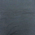 White Dotted on Black Cotton Blend Fabric - Rex Fabrics