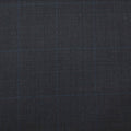 Ermenegildo Zegna I TRAVELLER 4 SEASONS Gray Windowpane Suiting Fabric - Rex Fabrics