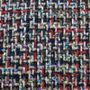Multicolored Blue Threaded Dark Tweed