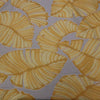 Leaves Textured Yellow Brocade Fabric