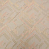 Geometric Textured Beige Brocade Fabric