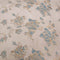 Beige And Blue Floral Textured Brocade Fabric - Rex Fabrics