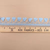 Sky Blue Abstract Lace Trim - Rex Fabrics