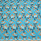 Aqua Abstract Embroidered Tulle Fabric - Rex Fabrics