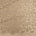 Beige Abstract Embroidered Tulle Fabric - Rex Fabrics