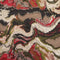 Brown and Burnt Orange Abstract Textured Multicolor Brocade Fabric - Rex Fabrics