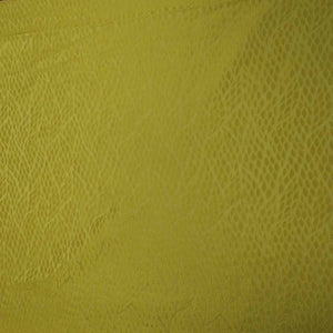Abstract Textured Yellow Brocade Fabric