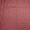 Abstract Textured Red And Brown Brocade Fabric