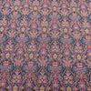 Blue and Fuchsia Jacquard Textured Multicolor Brocade Fabric - Rex Fabrics