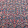 Blue and Red Jacquard Textured Multicolor Brocade Fabric - Rex Fabrics