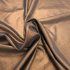 Solid Plain Textured Bronze Lamé Fabric - Rex Fabrics