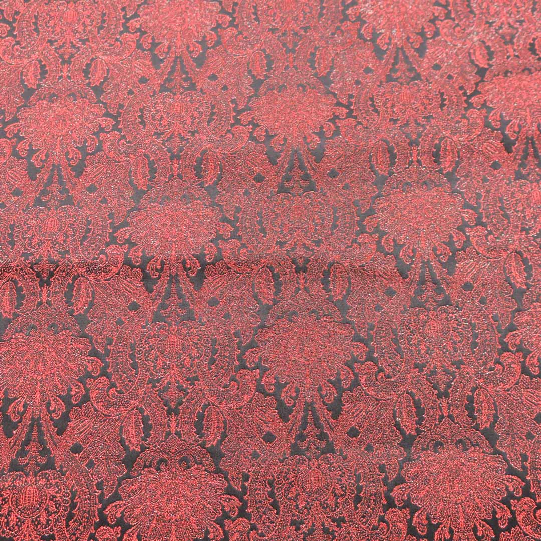 Abstract Textured Pink Brocade Fabric