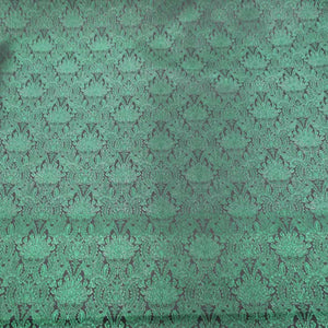 Abstract Textured Green Brocade Fabric
