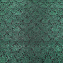 Load image into Gallery viewer, Abstract Textured Green Brocade Fabric