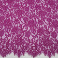 Fuchsia Floral Abstract Cotton Lace - Rex Fabrics