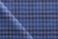 Ariston J Worsted Collection Blue Stripe Suiting - Rex Fabrics
